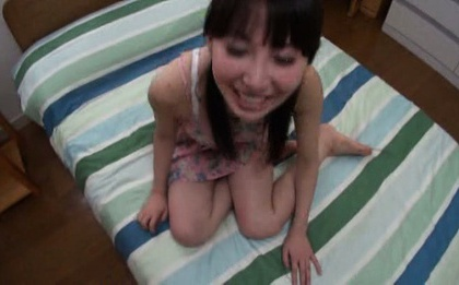 Petite Asian amateur Rei Aimi has hardcore fun with two guys